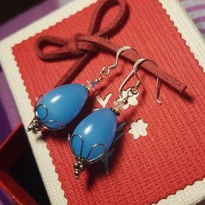 Handmade stone earrings